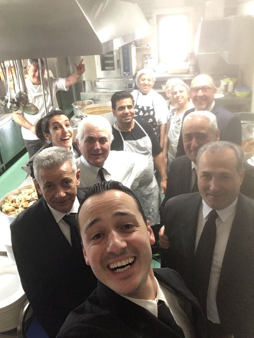 Staff in the kitchen