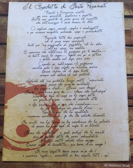 Poesia del Brodetto di Porto Recanati