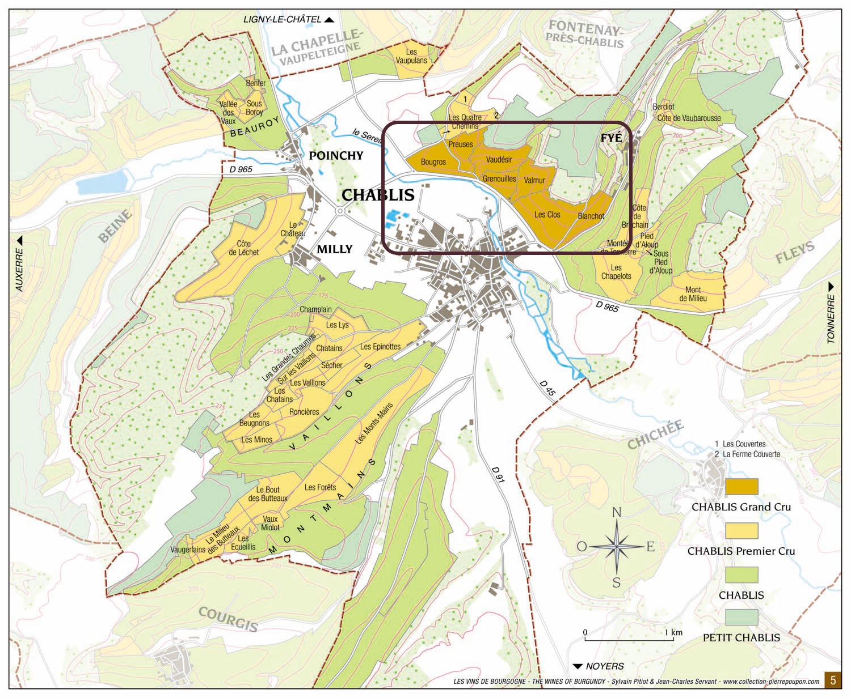 Chablis Grand Crus - Mappa